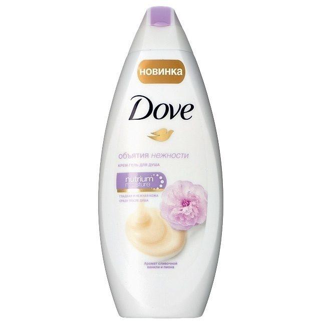 DOVE Гель для душа Сливочная ваниль и пион 250 мл (DOVE, Средства для ванны и душа)