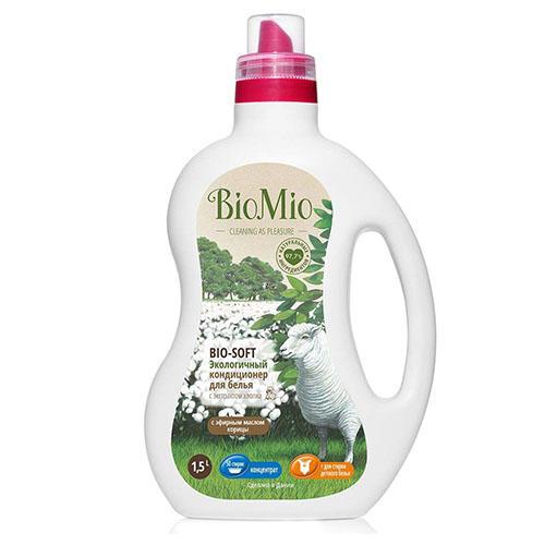 Кондиционер концентрат для белья Корица, 1000 мл (BioMio, Стирка) кондиционер для белья экологичный bio mio концентрат bio soft с эфирным маслом корицы 1 5л