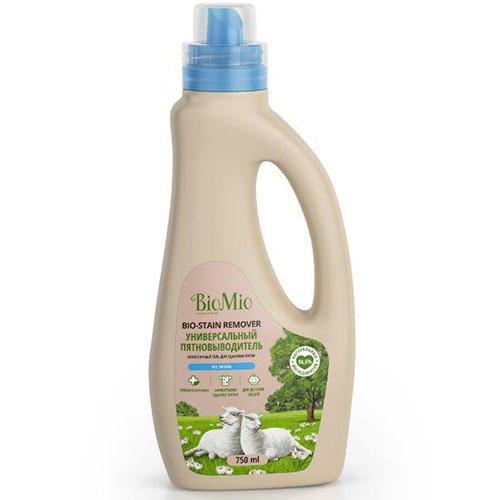 BioMio Универсальный пятновыводитель для стирки белья, без запаха, 750 мл (BioMio, Стирка)
