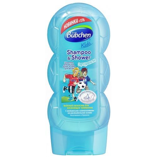 Bubchen Шампунь для мытья волос и тела Спорт и удовольствие 230 мл (Серия Кидс)