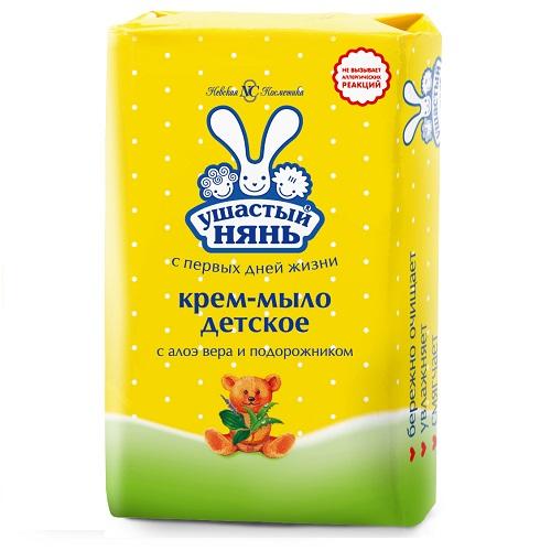 Купить Ушастый нянь Крем-мыло с алоэ вера и подорожником 90 г (Ушастый нянь, Детское мыло), Россия