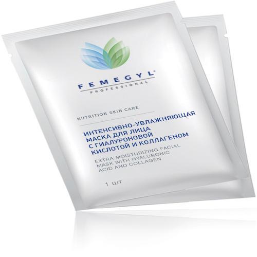 Саше Интенсивно-увлажняющая маска для лица с Гиалуроновой кислотой и Коллагеном, 1 шт (Femegyl professional)