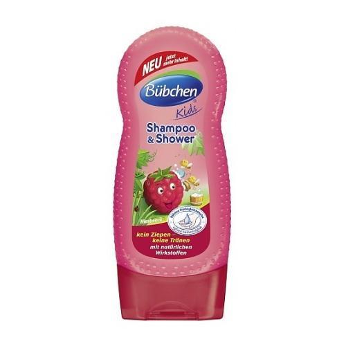 Bubchen Шампунь для мытья волос и тела Мишкина Малина 230 мл (Серия Кидс)