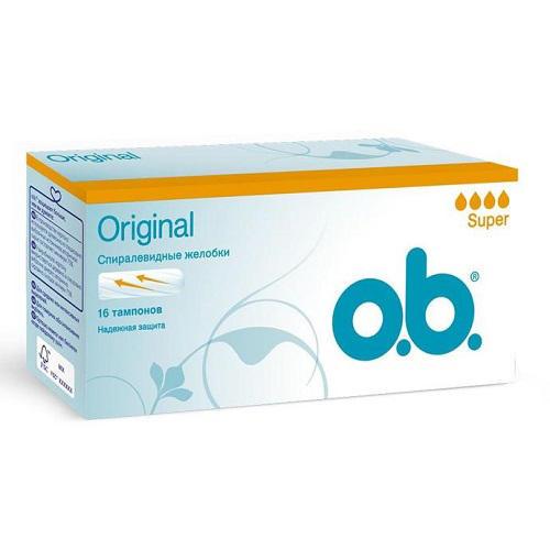 Купить O.B. Тампоны ориджинал супер 16 штук (O.B., Original), Германия