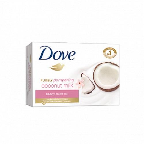 DOVE Крем-мыло твердое Кокосовое молочко и лепестки жасмина 135 гр (DOVE, Средства для ванны и душа)