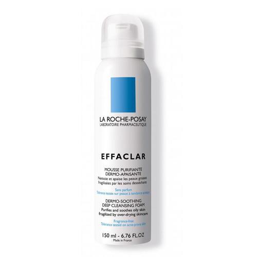Мусс очищающий успокаивающий для жирной чувствительной обезвоженной кожи Эфаклар H 150 мл (La RochePosay, Effaclar) как очистить жирную кожу