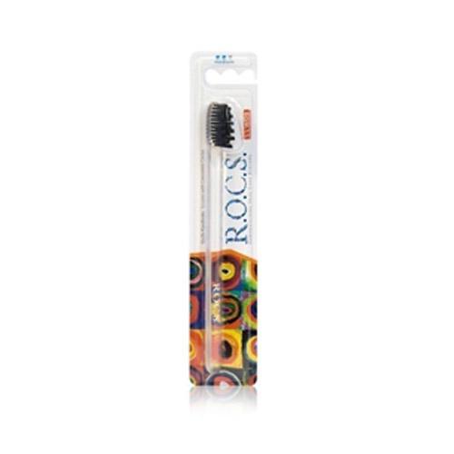 R.O.C.S Зубная щётка Модельная средняя, 1 шт. (Зубные щетки)