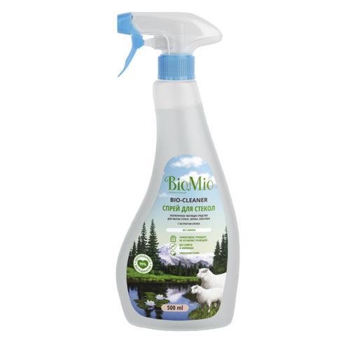BioMio Средство чистящее для стекол, зеркал, пластика, без запаха, 500 мл (BioMio, Уборка)