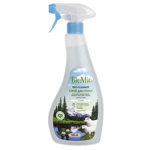 Купить BioMio Средство чистящее для стекол, зеркал, пластика, без запаха, 500 мл (BioMio, Уборка), https://www.pharmacosmetica.ru/files/pharmacosmetica/reg_images/1809-02-02.jpg