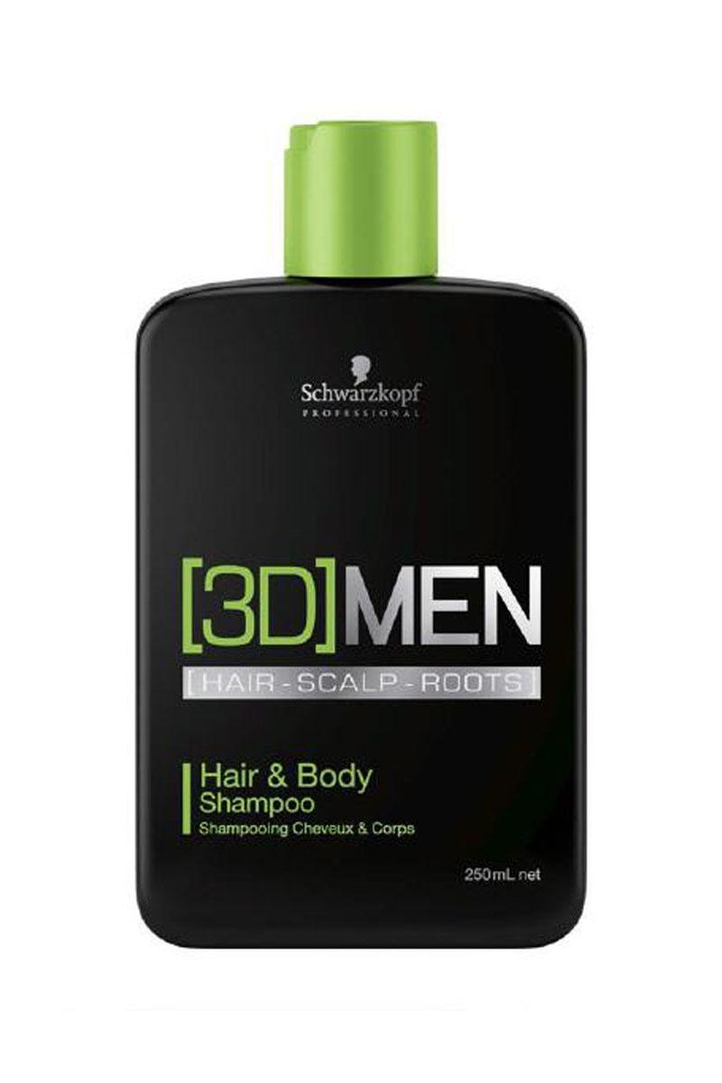 заказать Schwarzkopf Professional [3D]MEN Шампунь для волос и тела Hair&Body Shampoo 250 мл ([3D]MEN)