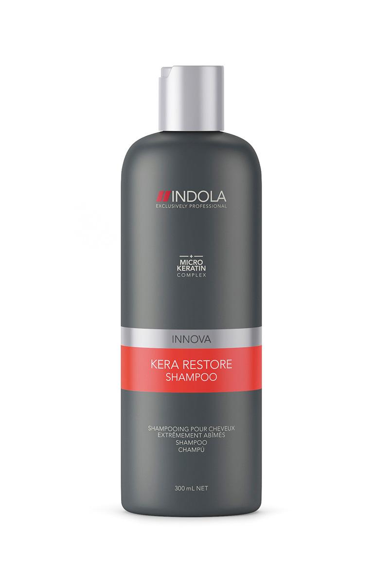 ������� ����������� ������� � �������������� Kera Restore Shampoo 300 �� (Indola Care)