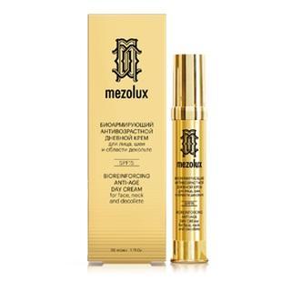 заказать Мезолюкс Биоармирующий антивозрастной дневной крем для лица, шеи и области декольте SPF15, 30 мл (Mezolux)