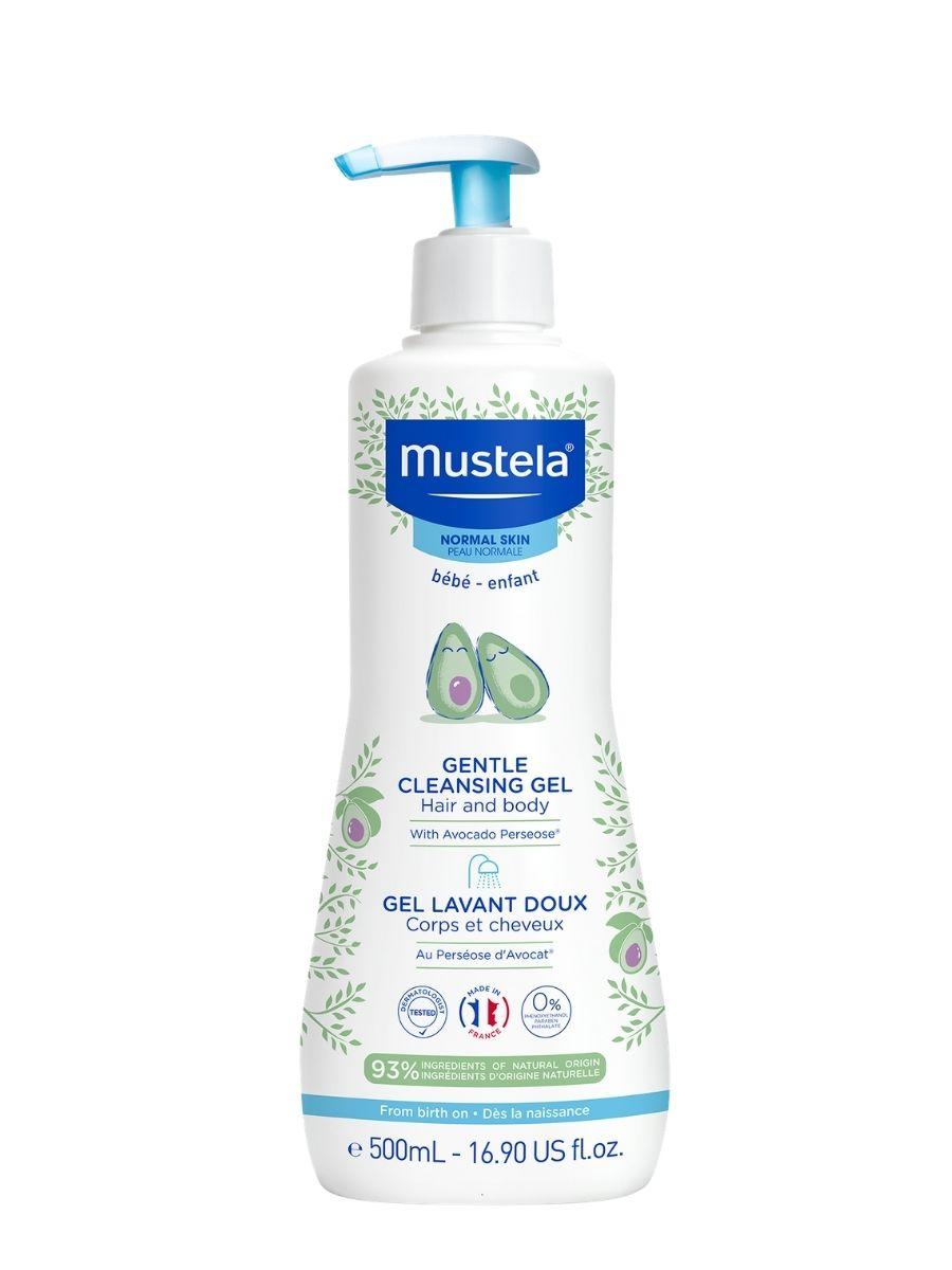 Купить Mustela Гель для мытья для детей с первых дней жизни 500 мл (Mustela, Bebe - время купаться), Франция