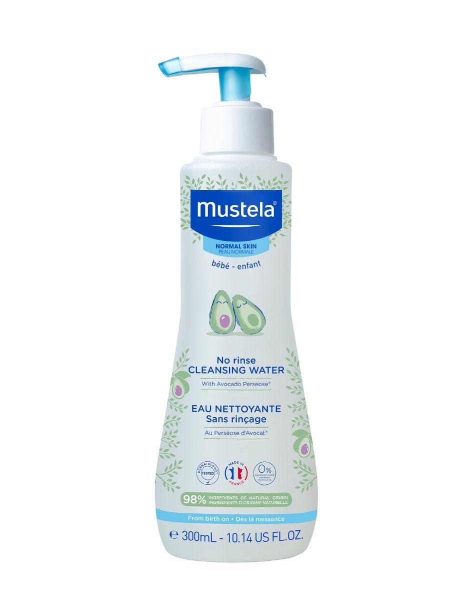 Купить Mustela Очищающая вода для новорожденных и детей, не требует смывания, 300 мл (Mustela, Bebe - ежедневная гигиена), Франция