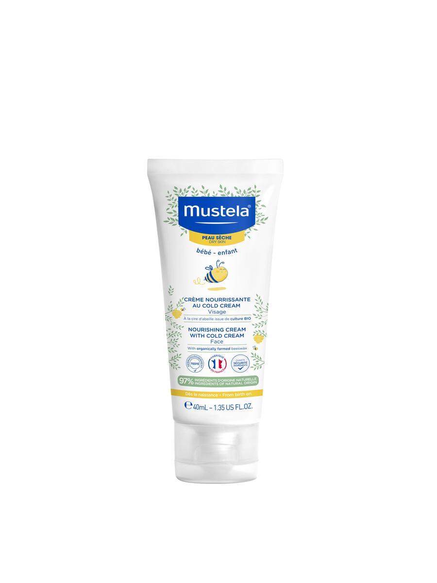 Mustela Питательный крем для лица с кольд-кремом 40 мл (Mustela, Bebe - защита кожи)