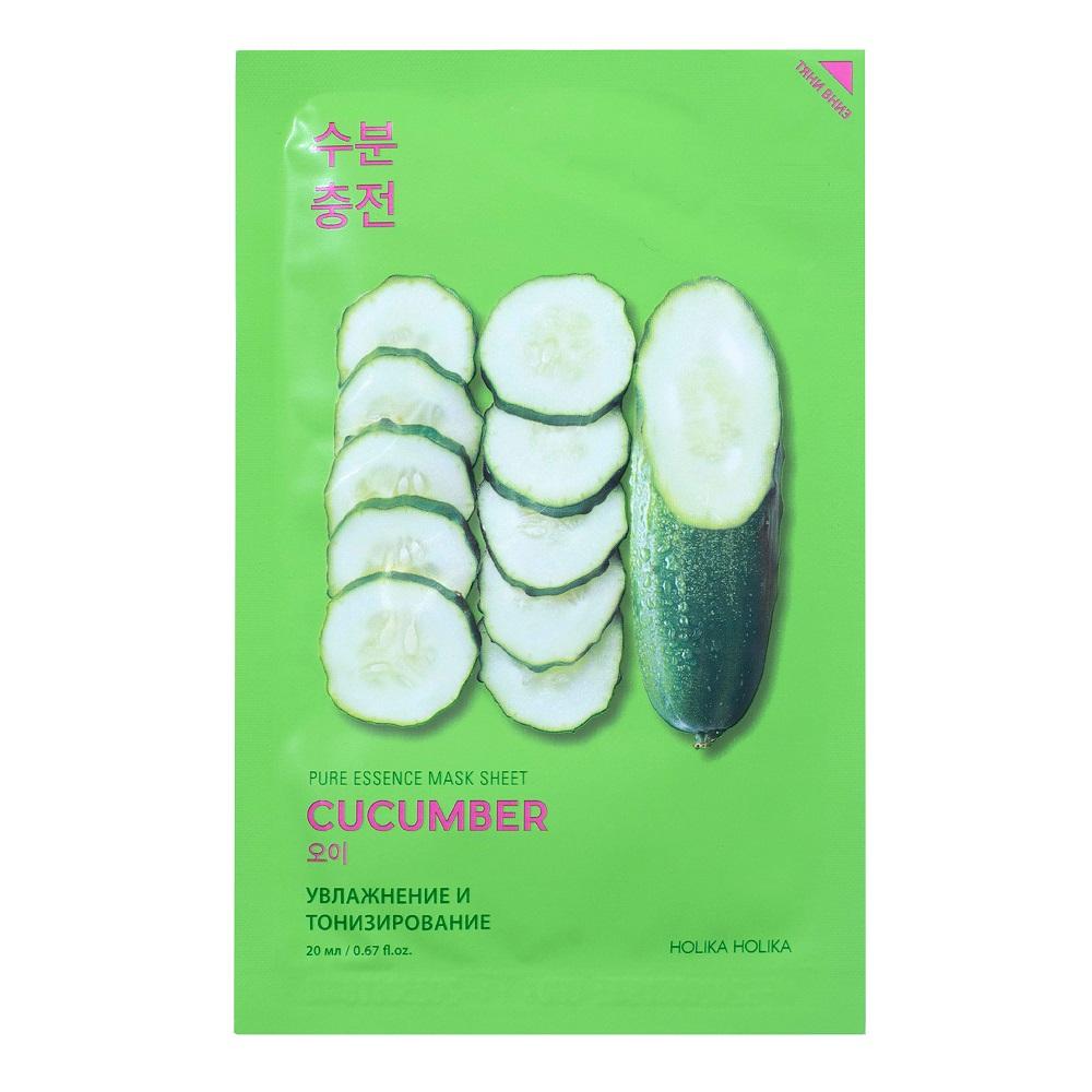 Купить Holika Holika Успокаивающая тканевая маска с огурцом 1 шт (Holika Holika, Pure Essence), Южная Корея