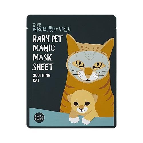 Тканевая маскамордочка смягчающая Кошка 22 мл (Holika Holika, Baby Pet) недорого