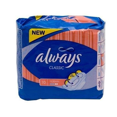 Прокладки Классик нормал 10 шт (Always, Classic) прокладки для ежедневной гигиены always classic sensetive normal 10 шт