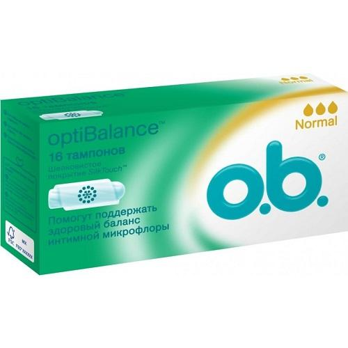 O.B. Тампоны Оптибаланс нормал  16 штук (OptiBalance)