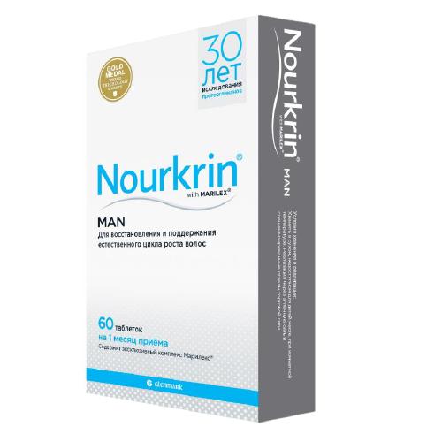 Купить со скидкой Nourkrin Нуркрин для мужчин 60 таблеток (Nourkrin, Man)