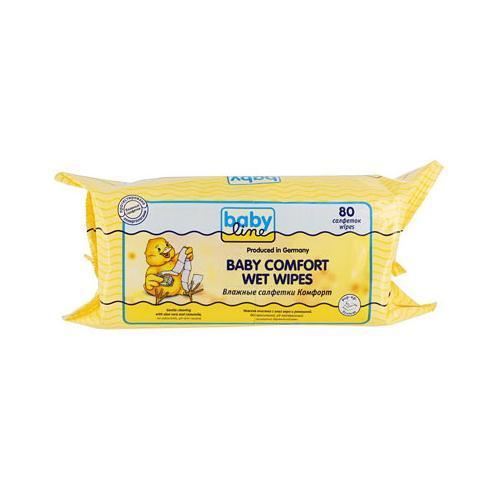 Влажные салфетки Комфорт 80 шт (Для мам) (Baby line)