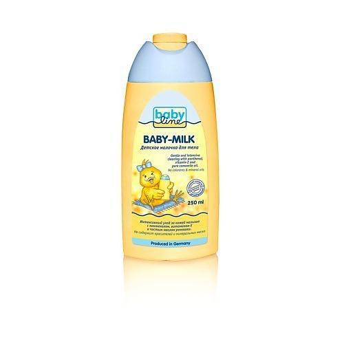 Детское молочко для тела 250 мл (Для тела)Уход за кожей ребенка<br>Интенсивный уход за кожей малыша с пантенолом, витамином Е и чистым маслом ромашки. Не содержит красителей и минеральных масел.. <br>- Увлажняет нежную кожу ребенка и защищает от внешних воздействий. Также идеально подходит для взрослых.<br><br>Линейка: Для тела<br>Пол: Женский