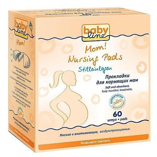 цена Прокладки для груди 60шт (Baby line, Для тела) онлайн в 2017 году