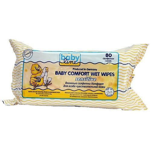 Baby line Влажные салфетки Комфорт Сенсетив  80 шт (Салфетки)