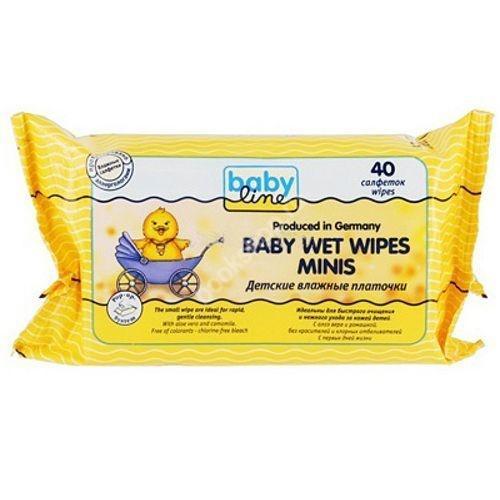 Детские влажные платочки 40 шт () (Baby line)