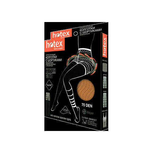 Колготки с шортиками 70 den Нotex бежевые (Hotex, Hotex)