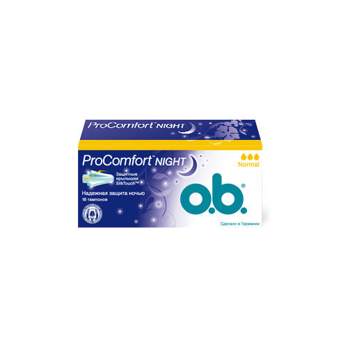 O.B. Тампоны найт нормал 16 штук (ProComfort)