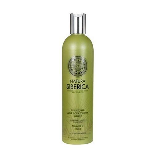 Шампунь для всех типов волос Объем и уход 400 мл (Natura Siberica, Биоуход за волосами) natura siberica шампунь для всех типов волос объем и уход шампунь для всех типов волос объем и уход
