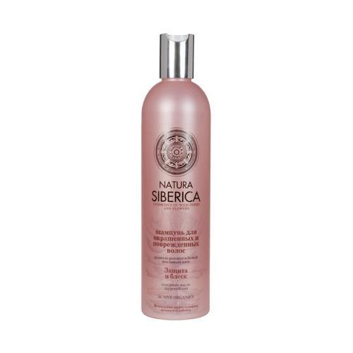 Natura Siberica Шампунь для окрашенных и поврежденных волос Защита и блеск 400 мл (Био-уход за волосами)