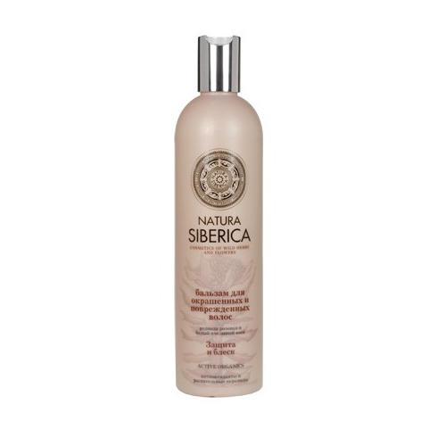 Бальзам для окрашенных и поврежденных волос Защита и блеск 400 мл (Био-уход за волосами) (Natura Siberica)