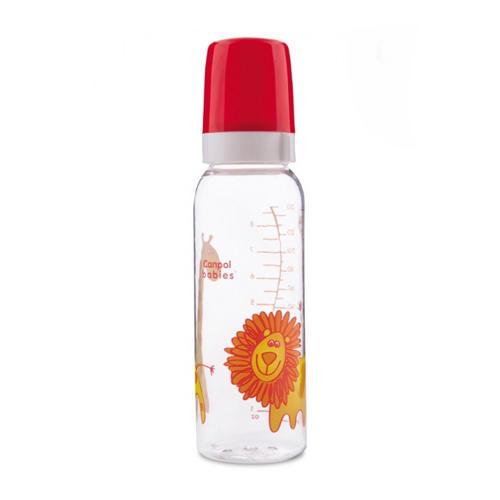 Тритановая бутылочка силиконовой соской Cheerful animals (BPA 0) 3, 120 мл (Canpol, Бутылочки) canpol babies бутылочка мишка с силиконовой соской от 3 месяцев 120 мл