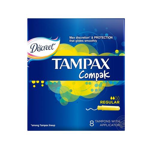 Tampax Тампоны Компак с аппликатором регуляр №8 (Tampax, Compak)