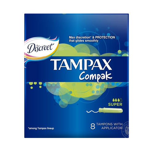 Tampax Тампоны Компак с аппликатором Супер №8 (Tampax, Compak)
