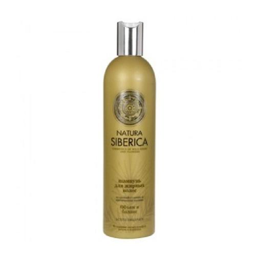 Шампунь для жирных волос Объем и баланс 400 мл (Natura Siberica, Биоуход за волосами) natura siberica шампунь для жирных волос объем и баланс 400 мл