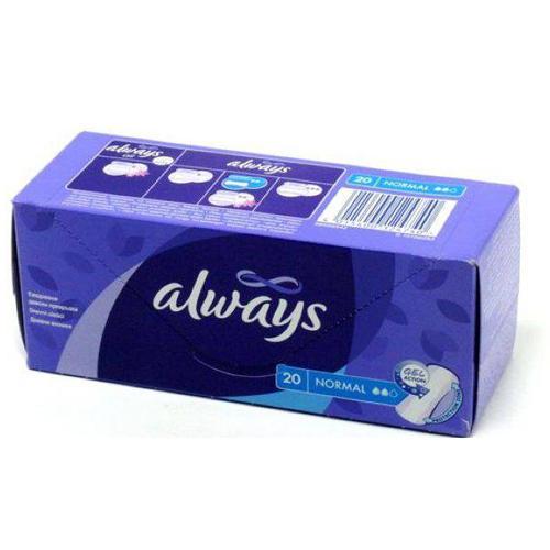 Always Прокладки ежедневные Нормал в индивидуальной упаковке 20 шт (Always, Everyday)