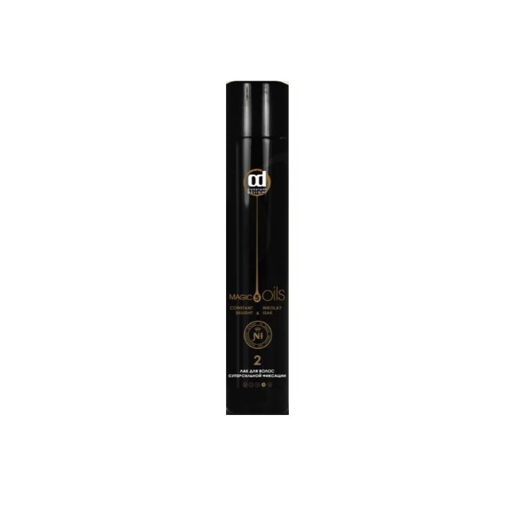 Купить Constant Delight Лак для волос суперсильной фиксации №2 без запаха 400 мл черный (Constant Delight, 5 масел), Италия