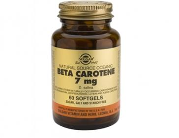 Solgar Бета-каротин, антиаксидант витаним А 7мг 60 капсул (Solgar, Витамины)