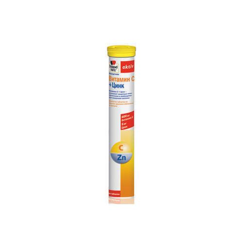 Doppelherz Витамин С + Цинк 15 шипучих таблеток (Doppelherz, Актив)