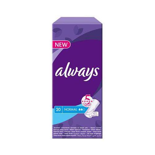 Always Прокладки ежедневные Дышащие нормал  20 шт (Everyday)