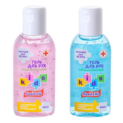 Kids Гель для рук с алоэ и витамином Е, детский 60 мл (Sanitelle) от Pharmacosmetica
