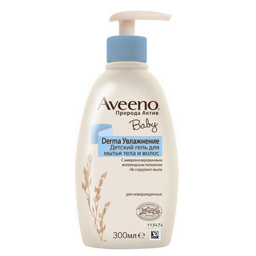 Гель детский для мытья тела и волос, 300 мл (Aveeno, Увлажнение) где купить aveeno в москве