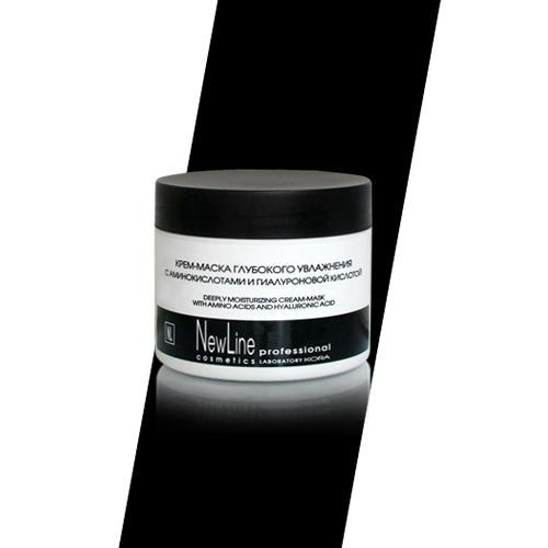 New line Крем-маска глубокого увлажнения с аминокислотами и гиалуроновой кислотой 300 мл (New line, New line Крем-маски) new line маска миорелакс