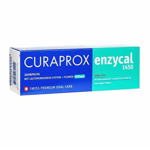 Curaprox Паста зубная enzycal 1450ppm содержание фторидов менее 0,15%, 75 мл (Curaprox, Зубные био-пасты)