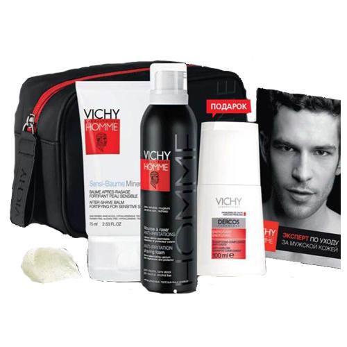 Набор Ом для бритья на 23 февраля (Vichy, Vichy Homme) dnc gemene набор стимулятор против выпадения волос 55 мл шоколад для лица подтягивающий 4 х 7 5 мл подарок маска для лица 15 мл