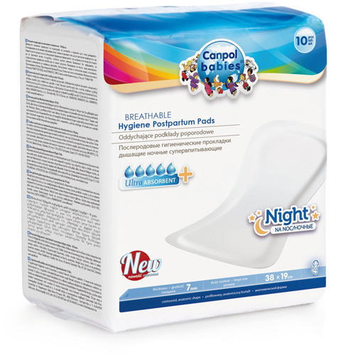 Canpol Дышащие, ночные послеродовые прокладки 10 шт (Canpol, Товары для мам) товары для мам