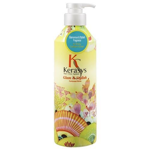 Kerasys Кондиционер парфюмированный для волос Гламур 600 мл (Kerasys, Perfumed Line) kerasys шампунь парфюмированный для волос флер 600 мл kerasys perfumed line